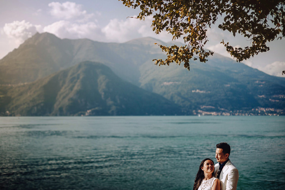 asian wedding lake como